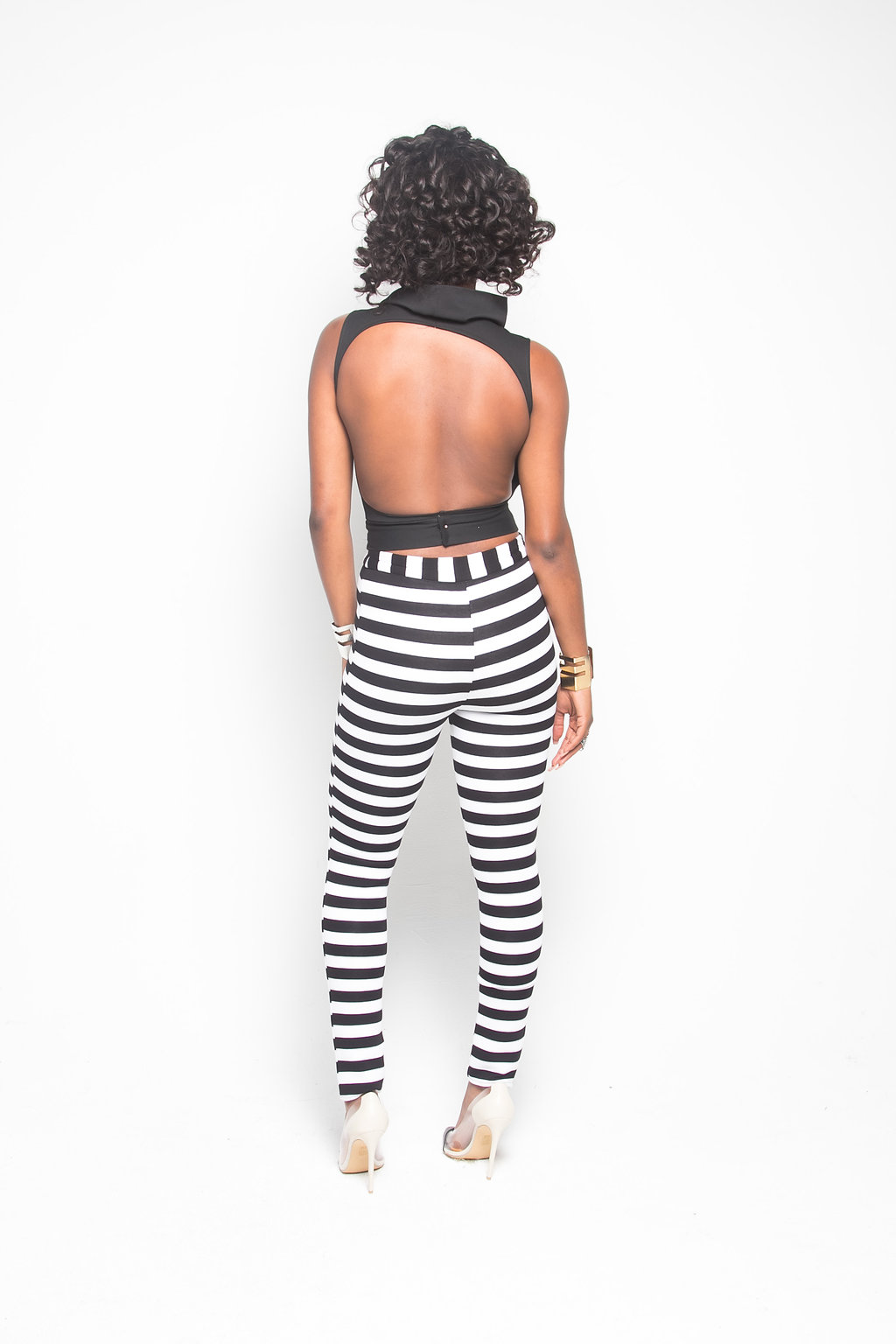 45ca5176a6759 Black and White Striped Pants (PRE-SALE) - Sylvia Mollie Collection